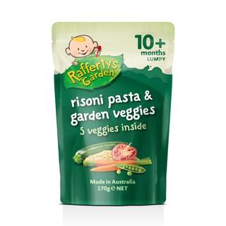 [Mã TTADRG10 giảm 10k] Ăn dặm mới lạ – Mì ống Risoni và các loại rau củ (xay nhuyễn) Rafferty's Garden