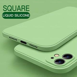Vỏ mềm silicon lỏng hình vuông nguyên bản mới sang trọng dành cho iPhone 11 Pro X XR XS Max 7 8 6 6s Plus SE 2 2020 12 Màu vỏ điện thoại