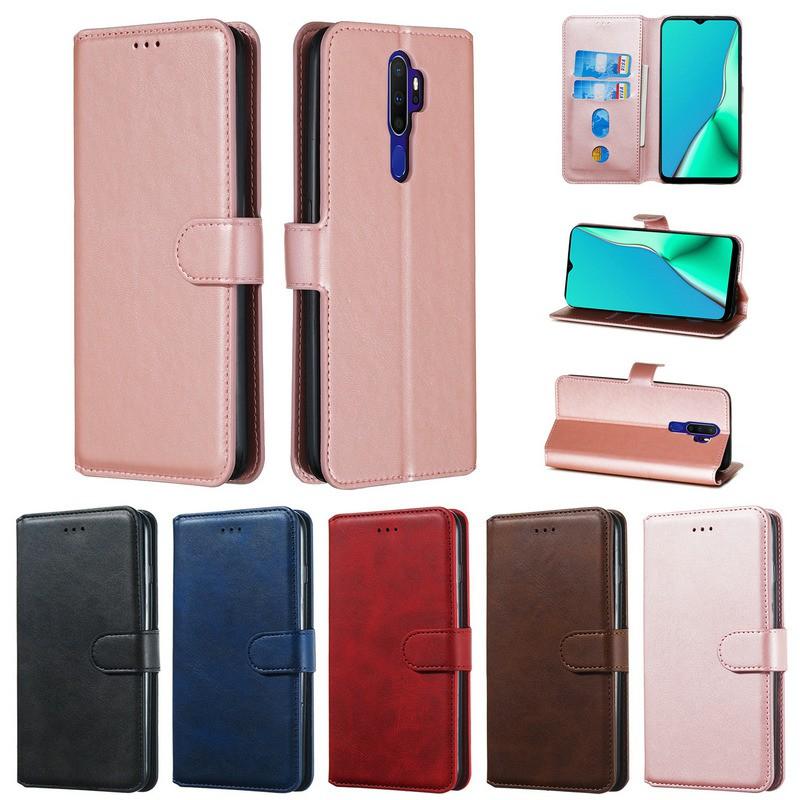 Bao da điện thoại nắp gập nhiều màu lựa chọn cho OPPO A53 A52 A92 A5 A9 2020 A31 A12 A12e F11 Pro F9 F5 A7 A5s A3s | YYT