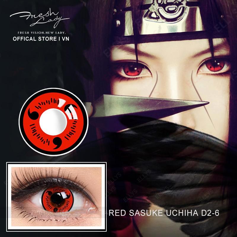 Sharingan Halloween Liên hệ cho Naruto Kakashi Mangekyou Sharingan Cosplay Kính áp tròng cho Red Sasuke Sharingan Cosplay Lens