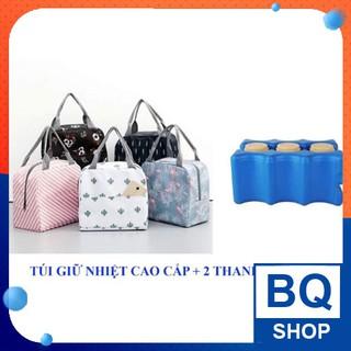 BQShop Túi giữ nhiệt, giữ lạnh cao cấp tặng 2 đá sóng thumbnail