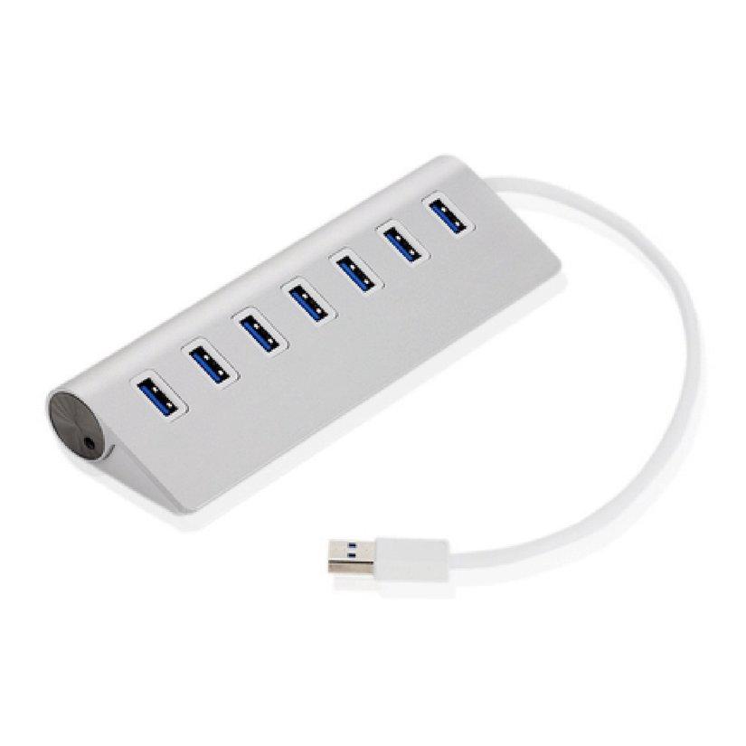8.15【HOT】7 Ports USB 3.0 HUB Card Reader Connector Supports Hot Swap Extender Splitter