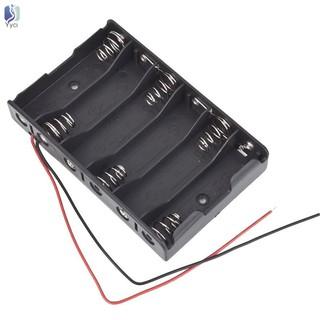 Khay lắp 6 pin 1.5V AA 2A cường độ tối đa 9V