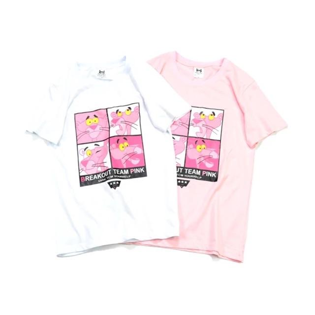 Áo thun Pink Pather (Trắng/ Hồng)