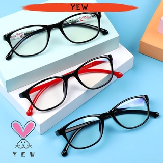 🌟YEW🌟 Children Boys Girls Comfortable Eyeglasses Portable Anti-blue Light Kids Glasses TR90 Online Classes Fashion Computer Eye Protection Ultra Light Frame
