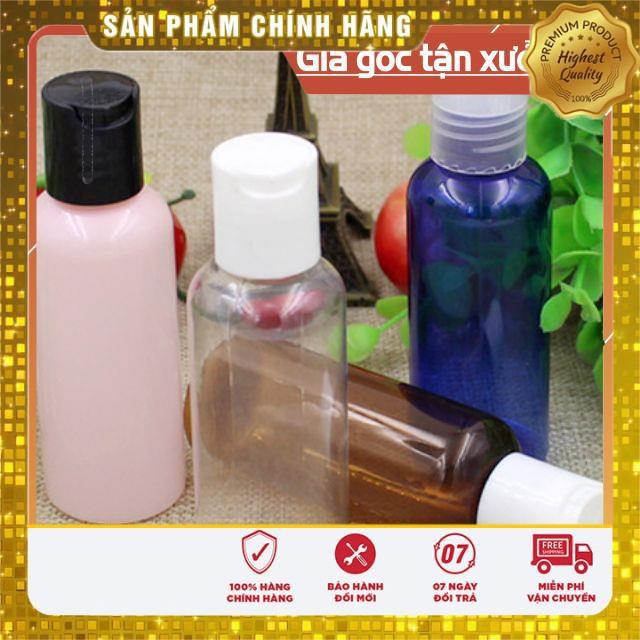 Chai nhựa pet nắp nhấn 100ml/50ml/30ml/20ml chiết mỹ phẩm