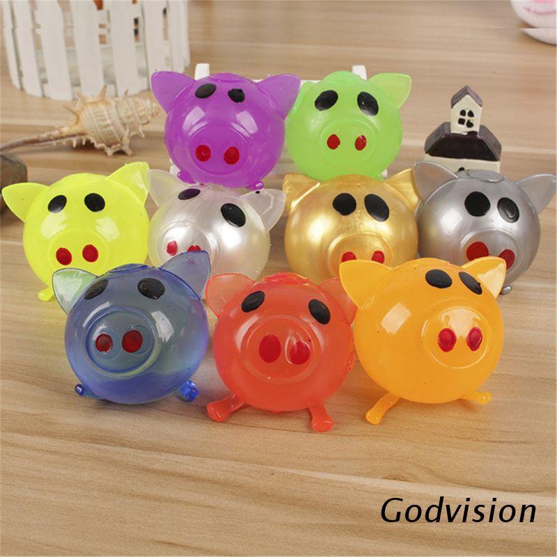 BB 8pcs Jello Pig Cute Anti Stress Splat Water Pig Ball Vent Toy Venting Sticky