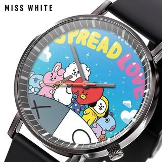 Đồng hồ BTS chibi nhóm BTS đồng hồ đeo tay nam nữ cá tính phù hợp đi học đi chơi thiết kế phong cách Hàn Quốc