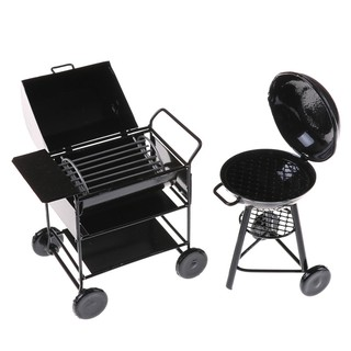 Odoria 1:12 Miniature BBQ Grill with a Gas Tank Large Size Dollhouse Kitchen Acc