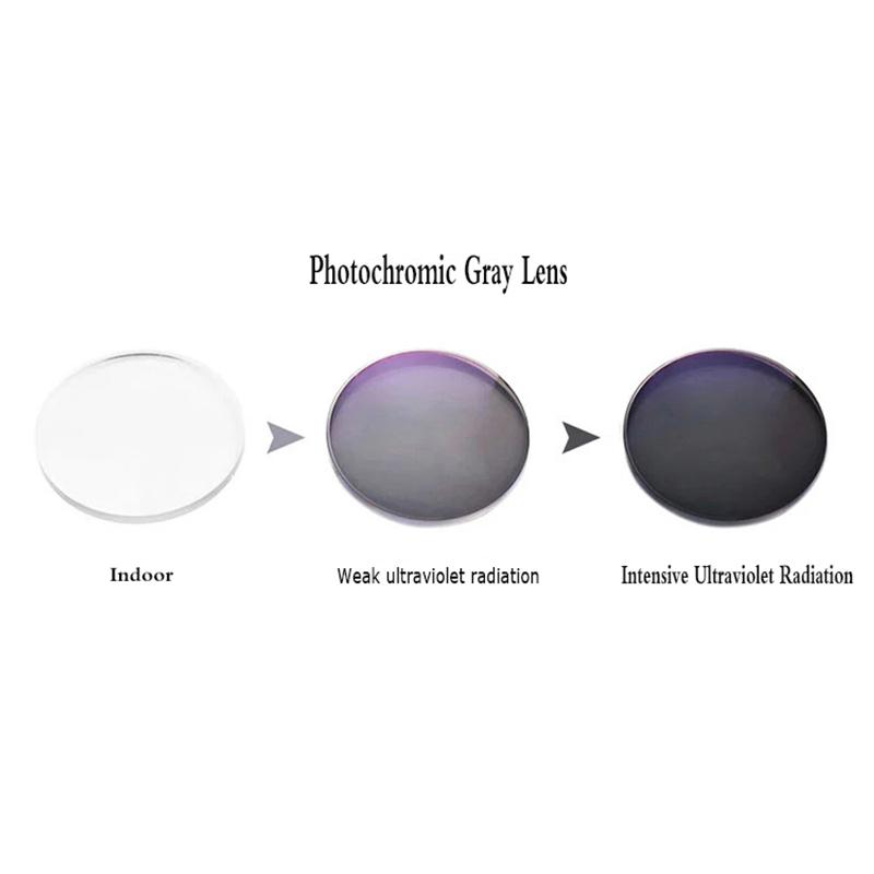 Kính cận thị đổi màu Mắt Kính Chống Bức Xạ Thời Trang -50/-100/-150/-200/-250/-300/-350/-400~600° Cho Nữ Nam giới Chống Tia UV400...
