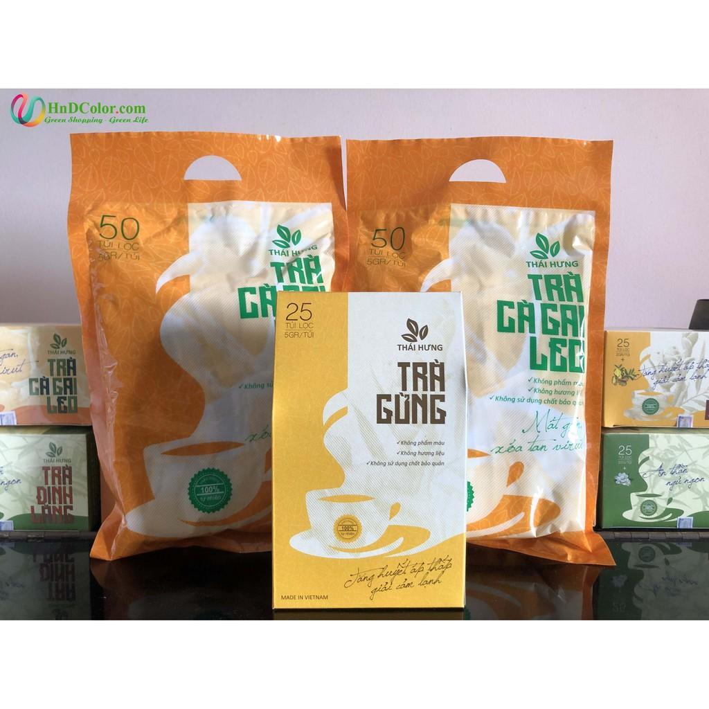 [CHÍNH HÃNG] Trà Cà Gai Leo Thái Hưng (trà thảo dược, 100% tự nhiên, dạng bịch) - mát gan xóa tan virut, giải rượu bia