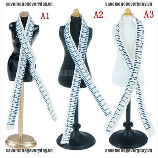 [Save] 1:12 Dollhouse mini mannequin ruler set simulation dress form model toys [VN]