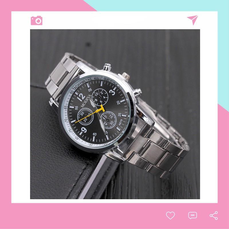 Đồng hồ nam dây kim loại cao cấp Modiya cực đẹp DH103