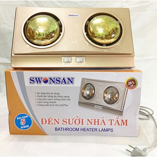 [Hàng chính hãng][Bảo hành 5 năm]Đèn sưởi nhà tắm SWONSAN 2 Bóng chất lượng nhiệt tốt [Giá Sỉ]