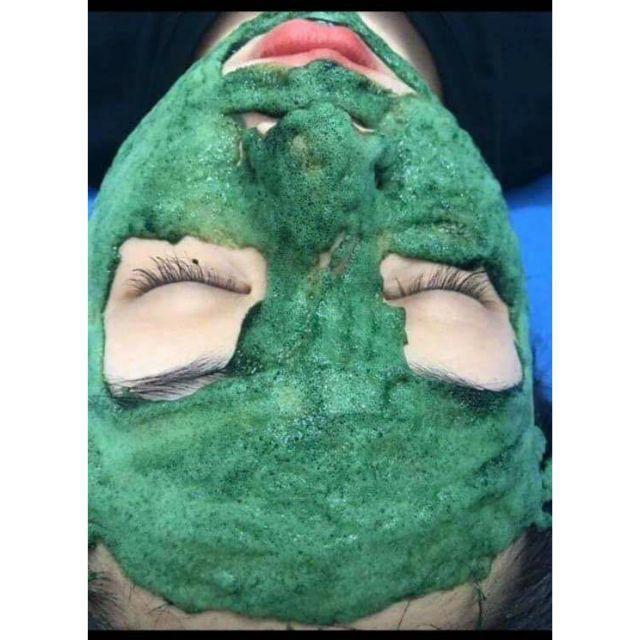 Mặt nạ sủi bọt tảo xoắn, thải độc da, trị mụn, làm trắng da