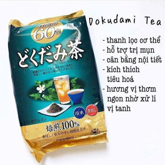 Trà diếp cá Dokudami Tea 60 túi lọc Orihiro Nhật Bản