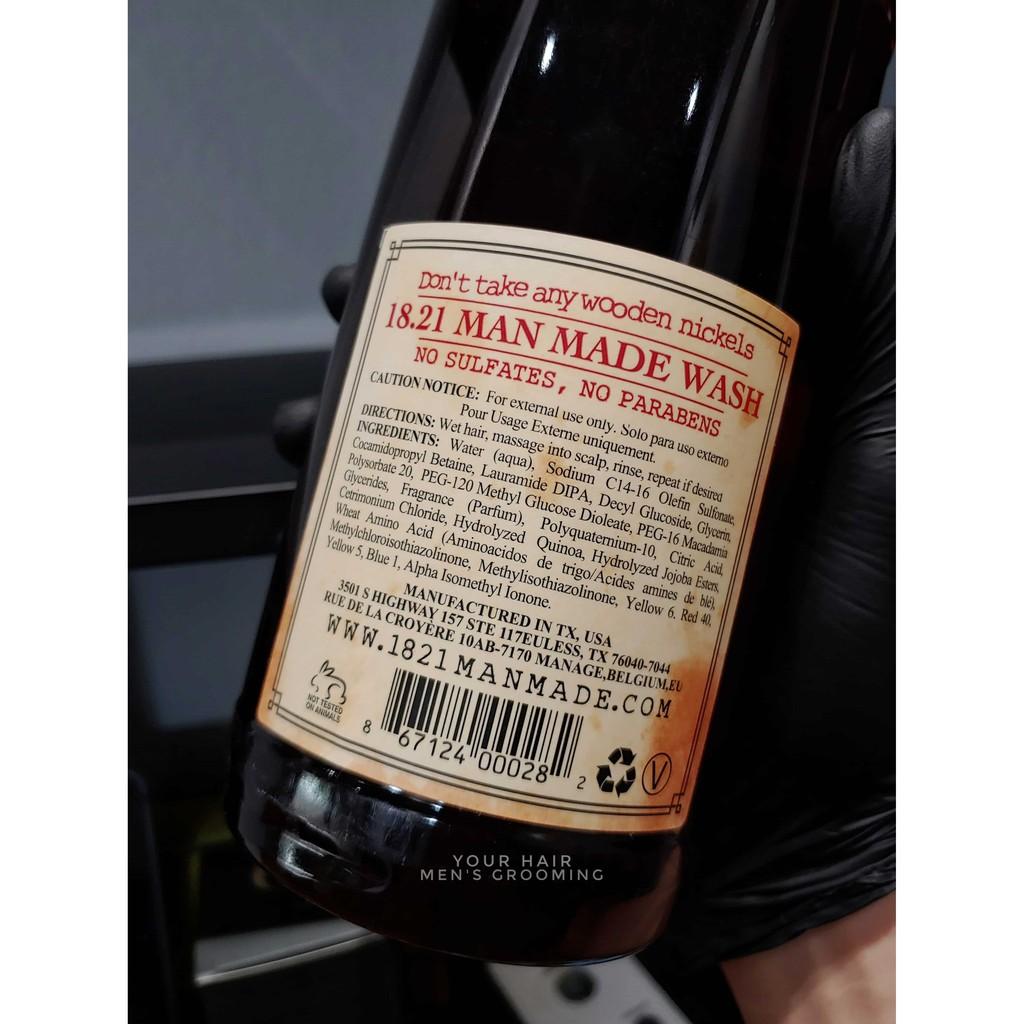 Sữa tắm gội xả 3 trong 1 - 18.21 Man Made Wash - 950ml - Sweet Tobaco, Spiced Vanilla