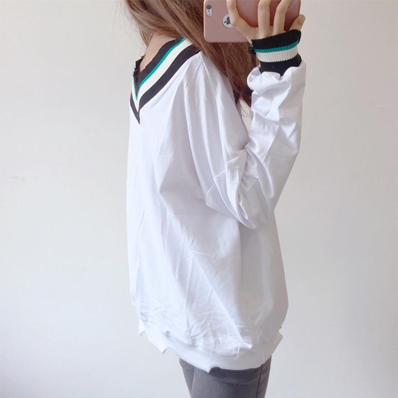 Áo thun nữ tay dài cổ chữ V thời trang phong cách Hàn Quốc - 14347665 , 2294012826 , 322_2294012826 , 166000 , Ao-thun-nu-tay-dai-co-chu-V-thoi-trang-phong-cach-Han-Quoc-322_2294012826 , shopee.vn , Áo thun nữ tay dài cổ chữ V thời trang phong cách Hàn Quốc
