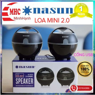 Loa 2.0 Nasun NS-801 Cổng usb chính hãng bảo hành 1 năm thumbnail