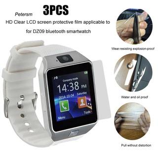 Set 3 miếng dán bảo vệ mặt LCD HD cho đồng hồ thông minh kết nối bluetooth DZ09