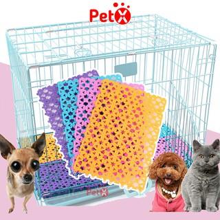 Tấm lót sàn chuồng chó, mèo PetX bằng nhựa nhiều màu bằng nhựa PVC 20x30cm thumbnail