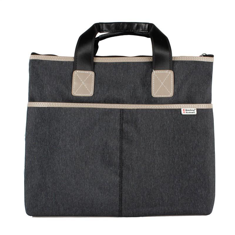 ธุรกิจไฟล์ความจุขนาดใหญ่ถุงเก็บข้อมูลแบบพกพาถุงซิปคู่ถุงไฟล์สามมิติแพคเกจการฝึกอ