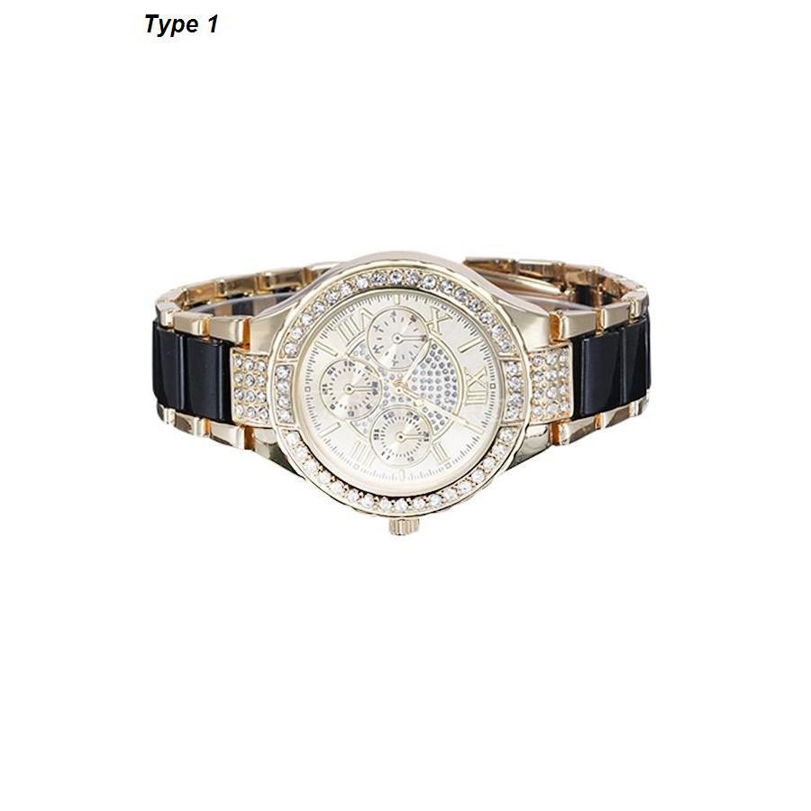 Đồng hồ Quartz Analog số La Mã, dây hợp kim dành cho nữ