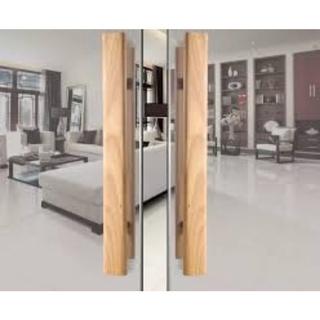 Tay nắm gỗ cửa kính(bản 36,48 gỗ gõ đỏ, sồi Nga)