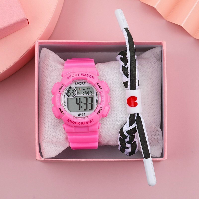 Đồng hồ điện tử nam nữ Sport sp1 mặt tròn dây silicon v2zư3