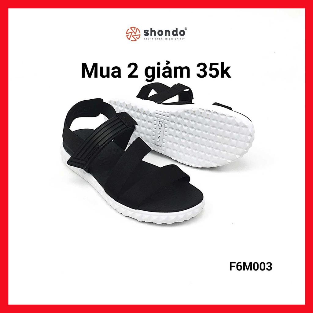 [Mã FASHION27B hoàn 8% tối đa 100K xu đơn 250K] Giày Sandals SHONDO F6 – F6M003