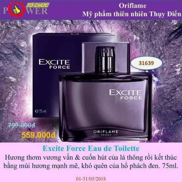 Nước hoa excite tim by oriflame - 2557733 , 1236256634 , 322_1236256634 , 270000 , Nuoc-hoa-excite-tim-by-oriflame-322_1236256634 , shopee.vn , Nước hoa excite tim by oriflame
