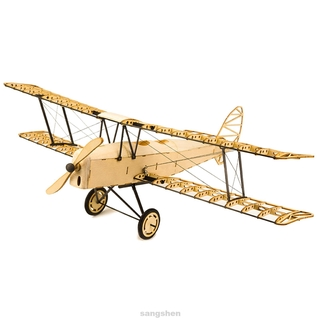 Construction DIY Portable Collection Kids Gift For Adults Tiger Moth Wooden Models Bi Plane Airplane Kit