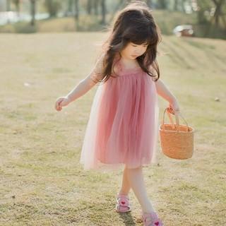 Đầm xoè phong cách hàn quốc cho bé gái