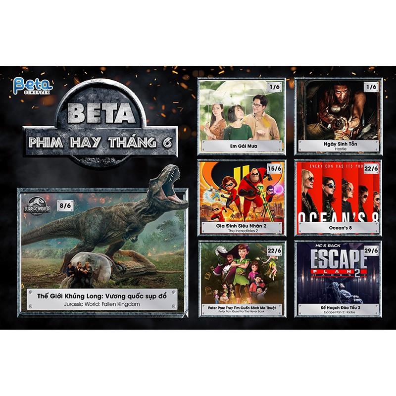 Hồ Chí Minh [Voucher] - Vé xem phim toàn Hệ thống Beta Cineplex toàn quốc