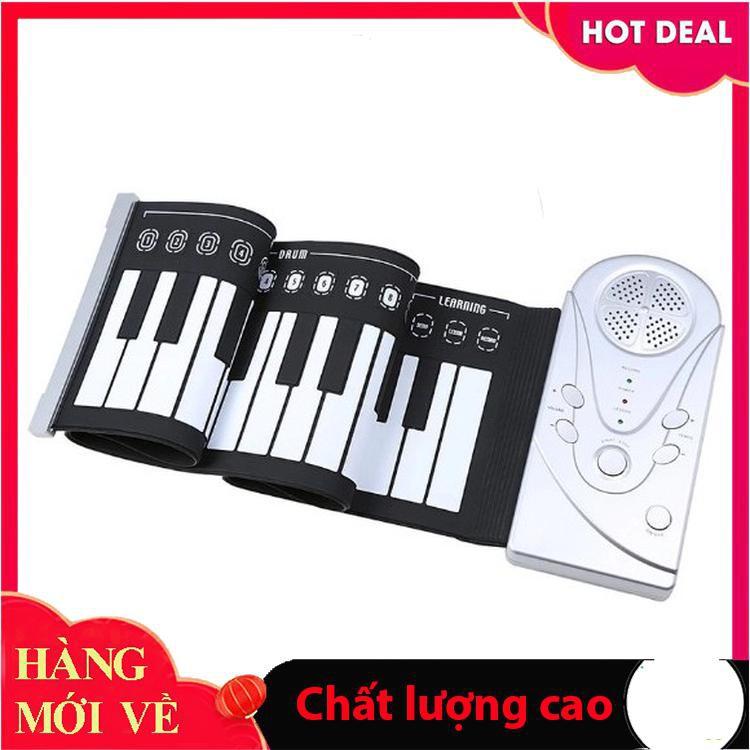[Hỗ trợ giá] Đàn piano điện tử bàn phím cuộn dẻo 49 keys (Trắng)_Đảm bảo chất lượng