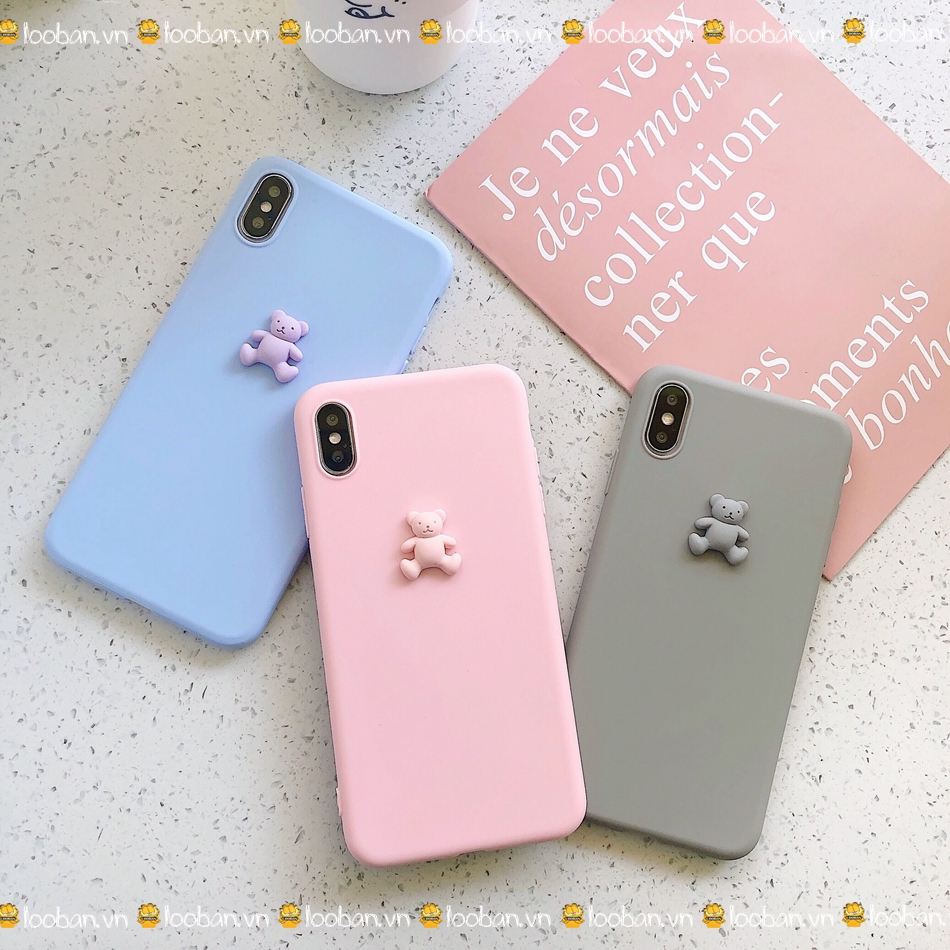 Cartoon Cute bear TPU Case For iphone Xs MAX XR 6X 6s 7 7 11Pro plus soft Cover