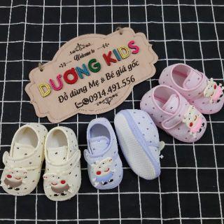 Giày tập đi cho bé trai và bé gái có chống trượt đế vải mềm hình peppa DK0201GVPP thumbnail
