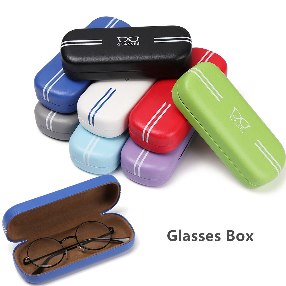 MIHAN1 Portable Travel Pack Candy Colors Eyeglasses Accessories Hard Frame Glasses Box