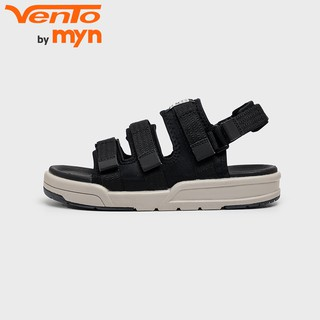 Giày Sandal Vento Nam Nữ F12 F1001 3 quai - Đen ghi
