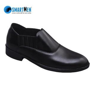 [Mã MABRSM50 hoàn 10% đơn 300K tối đa 50K xu] Giày công sở da bò nguyên miếng tăng chiều cao SMARTMEN GL2-02 (Đen) thumbnail