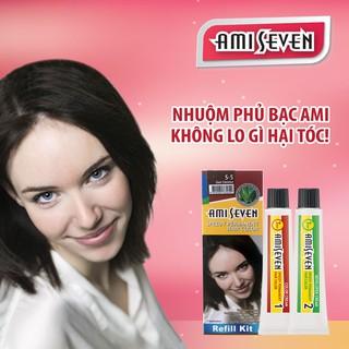 Nhuộm phủ bạc dược thảo Amiseven nhanh 7 phút AMI SEVEN (Loại tiết kiệm) S5 (60g + 60g) Hàn Quốc thumbnail