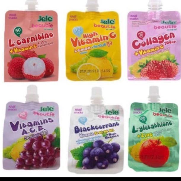 (HCM) Nước thạch trái cây Jele Beautie 150ml Thái Lan 11.2021