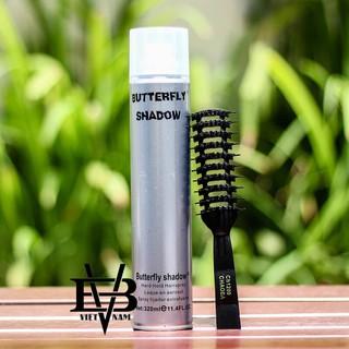 Gôm xịt tóc Butterfly Shadow 320ml Keo xịt tóc Butterfly Shadow 320ml công nghệ Đức + Tặng lược tạo kiểu Chaoba thumbnail