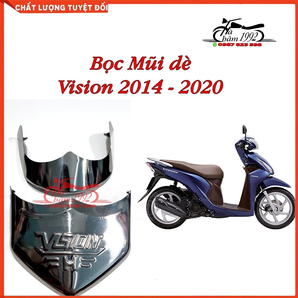 Bọc Mũi Dè Vision 2014 - 2020, Bịt mỏ dè xe Vision 2014 - 2020, Ốp mỏ ốp đuôi dè xe Vision, Ốp Mũi Dè Xe Vision