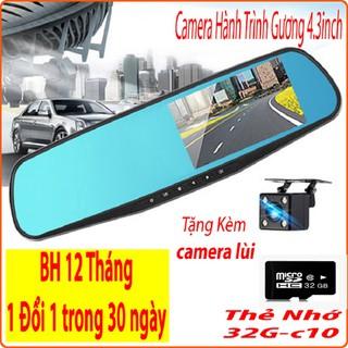 Camera hành trình gương chiếu hậu, màn 4,3 inch full hd, tích hợp camera lùi, Có Tiếng Việt-ThaoNhi172016