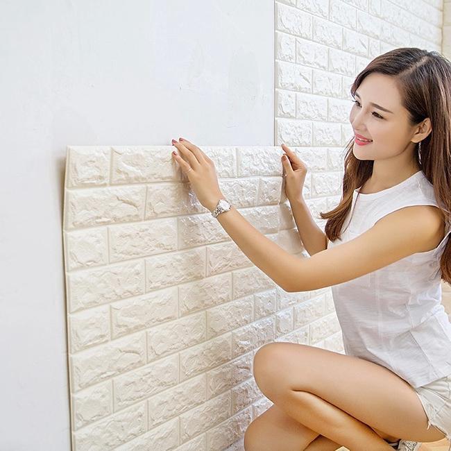 Xốp Dán Tường 3D Giả Gạch Bóc Dán / Chịu lực, chống nước, chống ẩm mốc