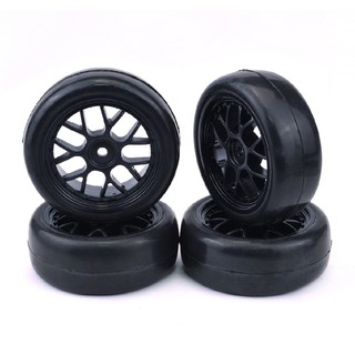 4 Pcs 1/10 Scale Tires Wheel Rim Rc Car On-Road 12Mm Hex Hub For Hsp Lrp Kyosho