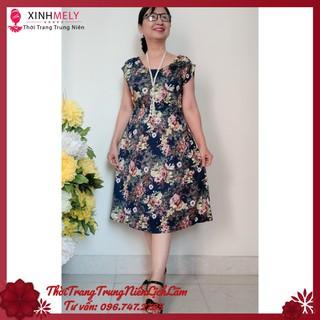 (TRANG NHÃ) Váy Đầm Trung Niên Thun Eo (48KG – 68KG) THANH LỊCH