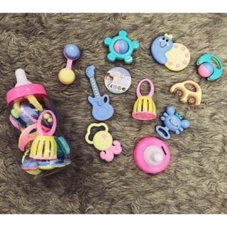 Bộ đồ chơi xúc xắc hình bình sữa 9 chi tiết cho bé yêu