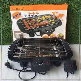 [Quà tặng khăn lau] Bếp Nướng, Bếp Nướng Điện Cao Cấp Electric Barbecue Grill 2000W Không Khói, Tặng 1 Khăn Lau Cao Cấp
